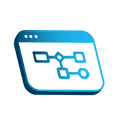 Process Automation Icon Blue